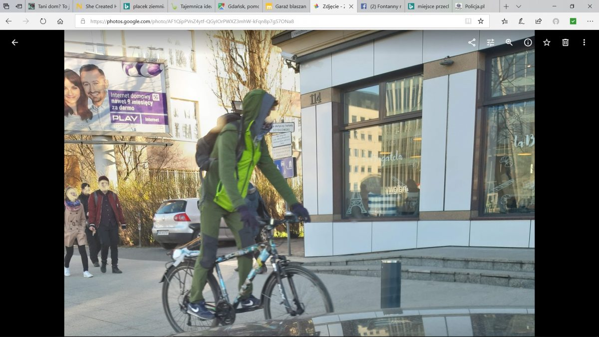 Co z tego, że to chodnik, rowerzyści jadą z dużą prędkością.
