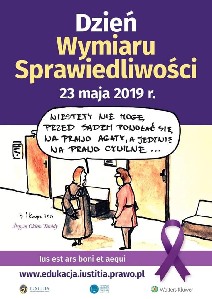 Jutro Dzień Wymiaru Sprawiedliwości. Najlepiej przypomina o tym #ArkadiuszKrupa i jego rysunek.