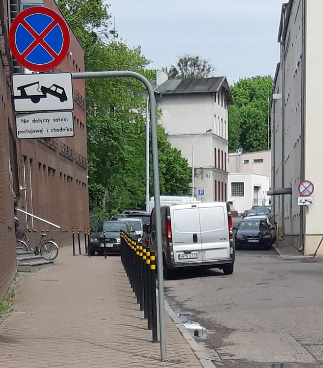 Niereformowalni. Polska Policja parkuje za znakiem B36.