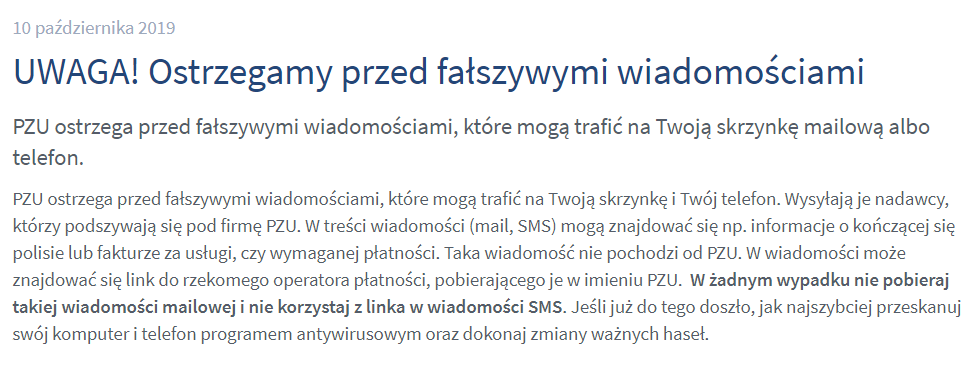 PZU ostrzega przed próbami ataku sieciowego