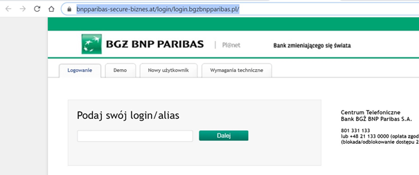 Próba ataku na klientów BNP Parisbas