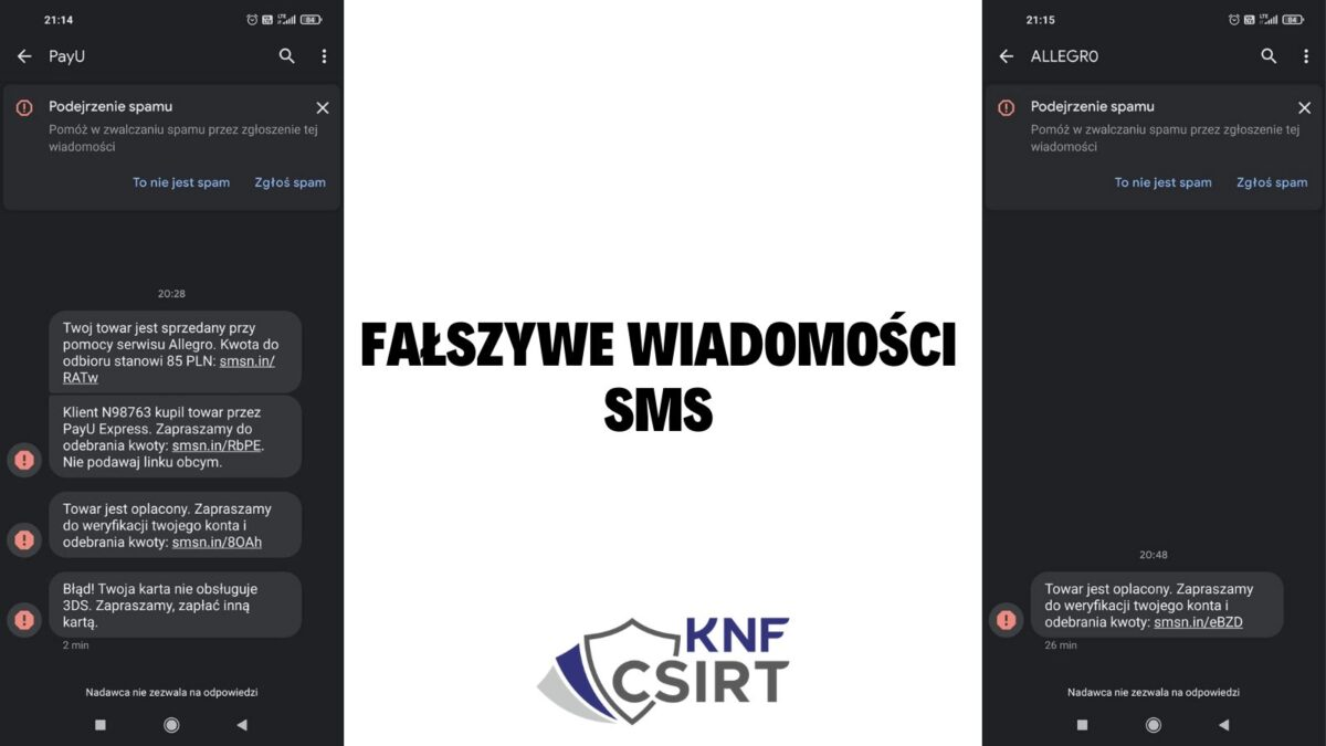 Fałszywe wiadomości SMS