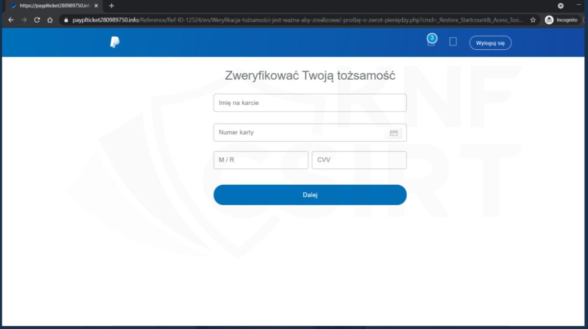 Uwaga na transakcje związane ze zwrotami w serwisie PayPal.